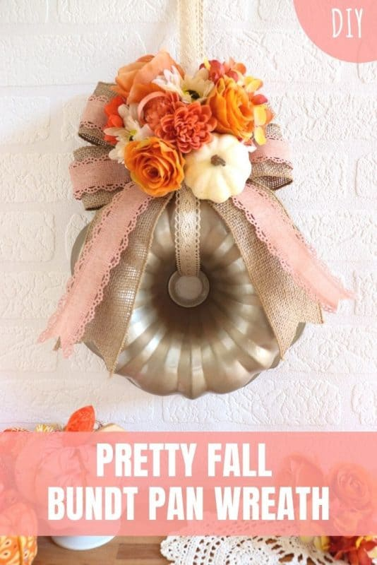 fall bundt pan wreath tutorial