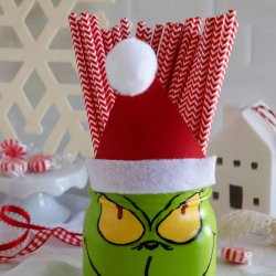 grinch mason jar craft