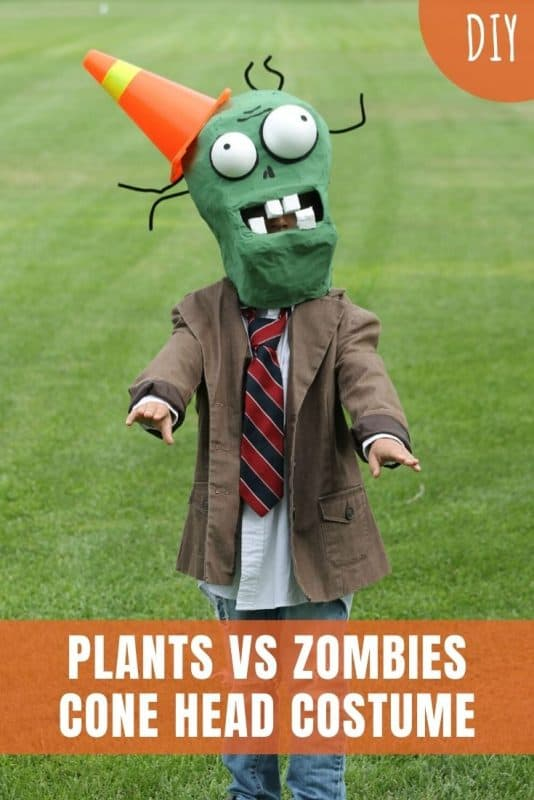 plants vs zombies cone head costume
