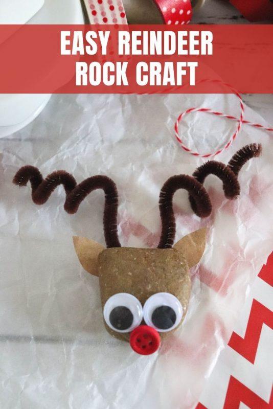 easy reindeer rock craft