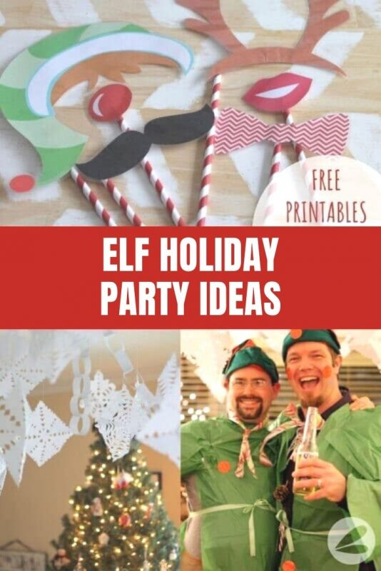 elf holiday party ideas with free printable