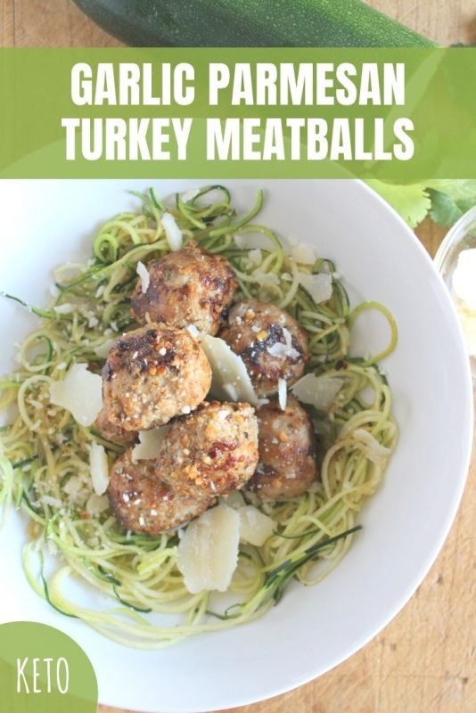 garlic parmesan turkey meatballs recipe