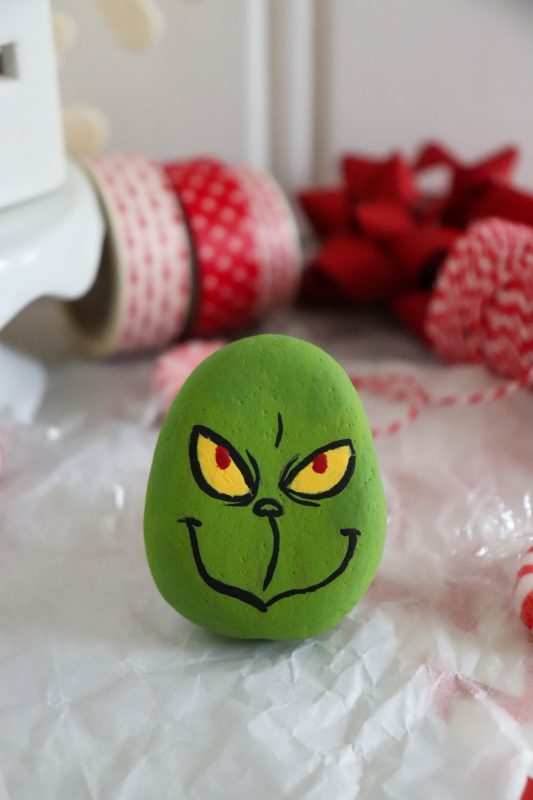 grinch rock craft