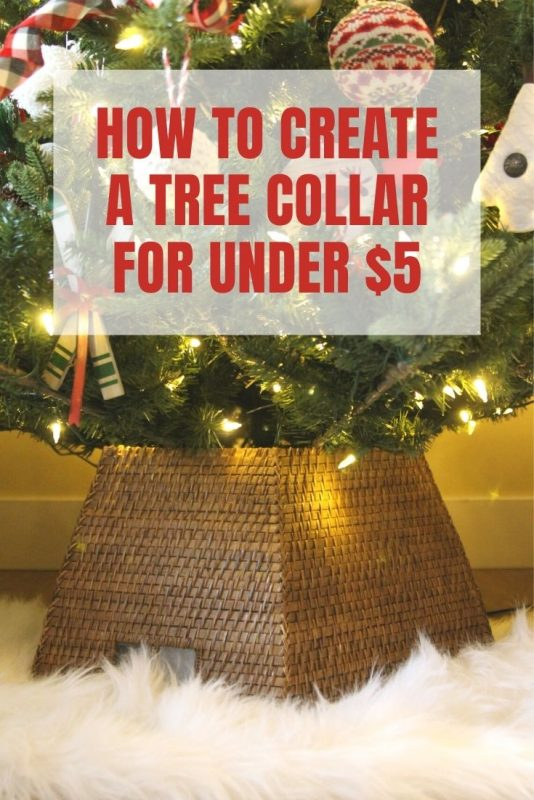 how to create a tree collar for under
