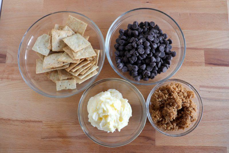 keto cracker toffee process