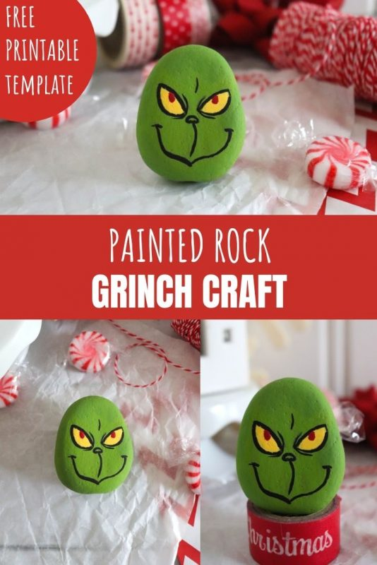 painted rock grinch craft