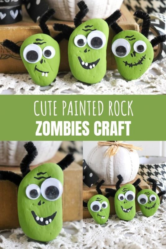 painted rock zombie craft
