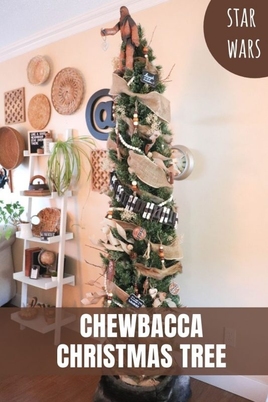 Star Wars Chewbacca themed Christmas tree
