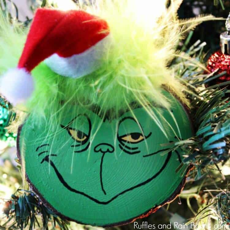 diy grinch christmas ornament idea