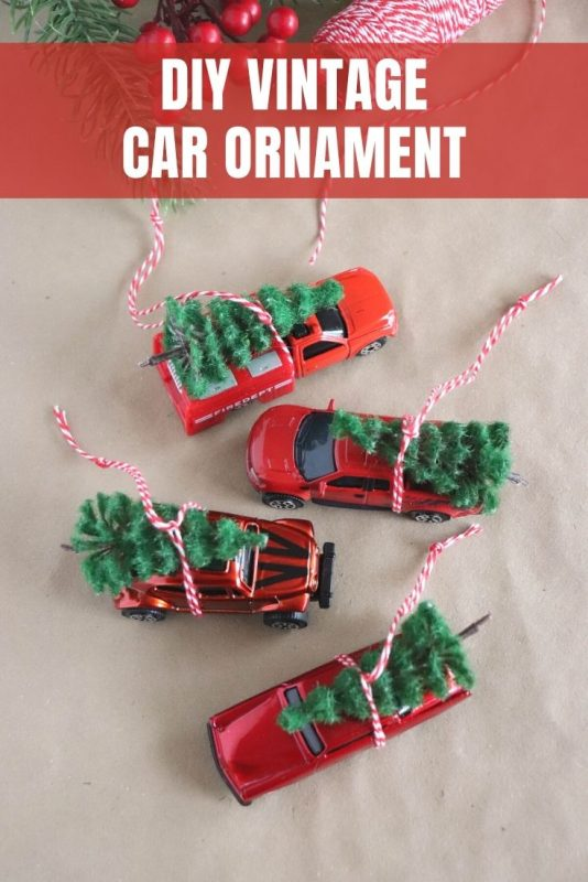 diy vintage car ornament