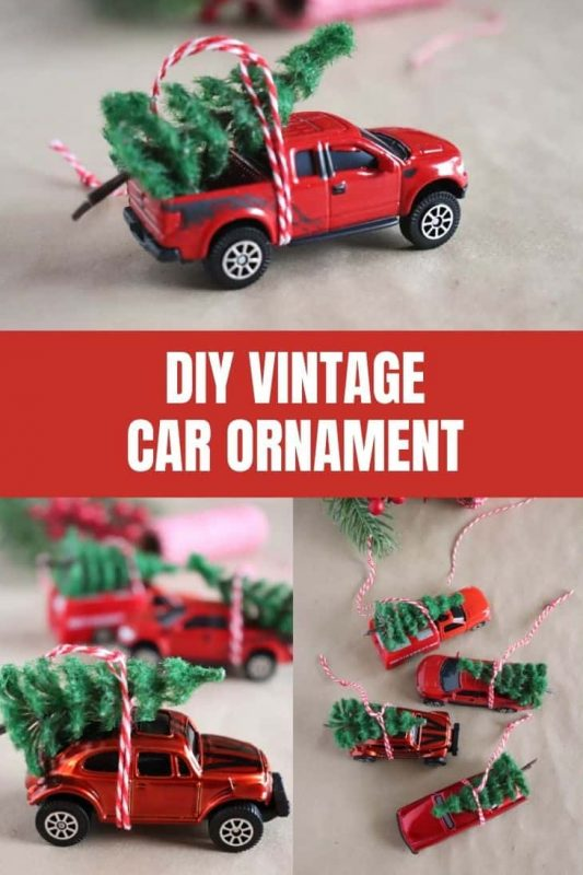 diy vintage car ornament craft
