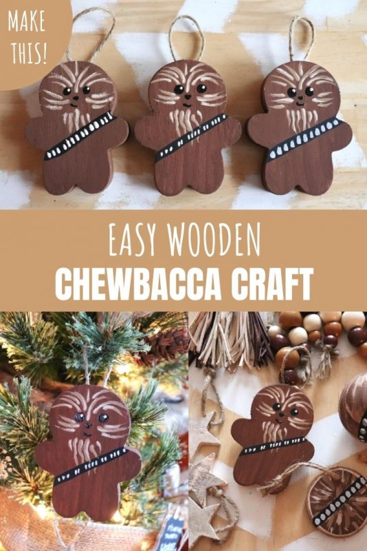 easy wooden chewbacca craft