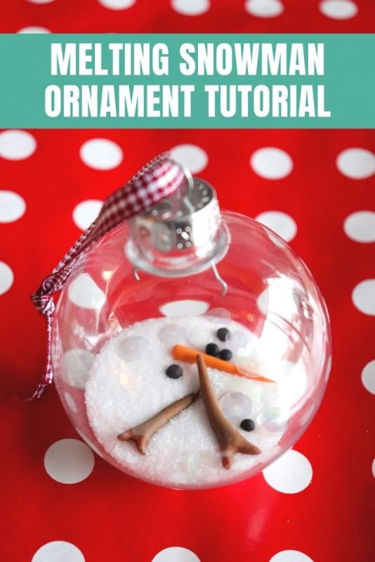 melting snowman ornament tutorial