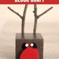 reindeer alphabet block craft