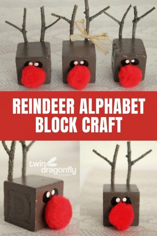 reindeer block craft