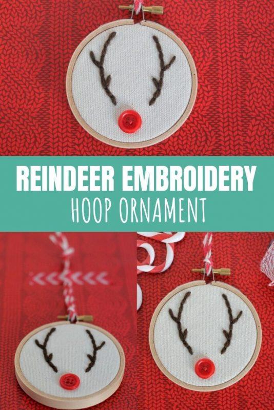 reindeer embroidery hoop ornament craft