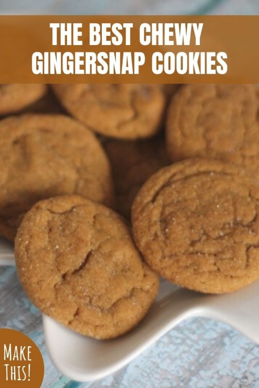 the best chewy gingersnap cookies