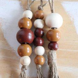 wooden bead ornament