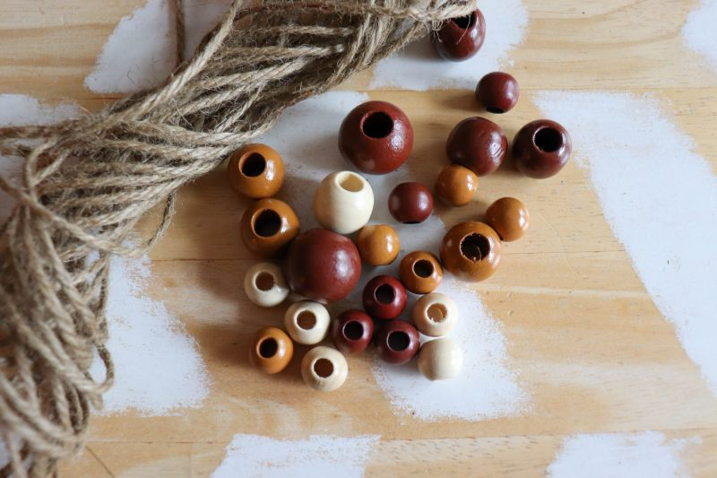 wooden bead ornament