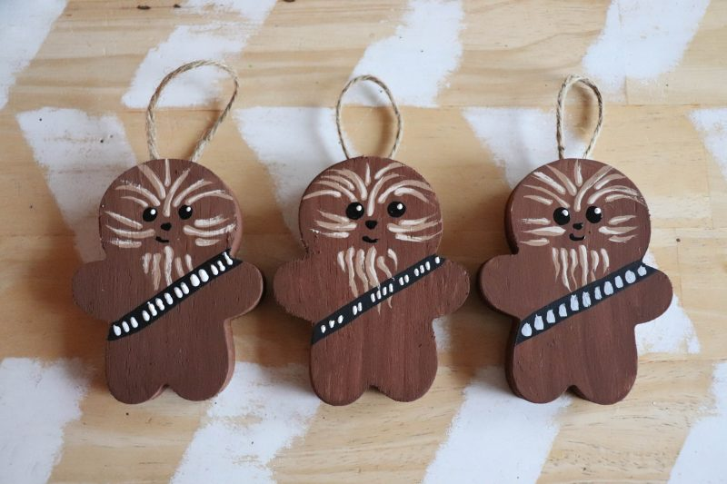 wooden chewbacca ornament