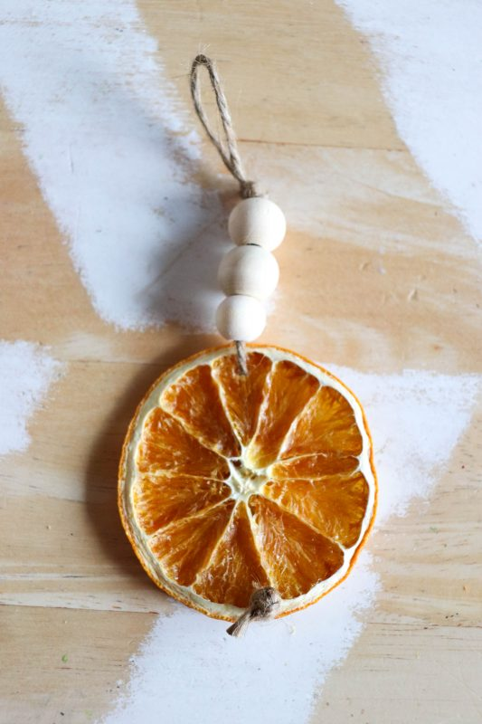 how to make dried orange slice garland