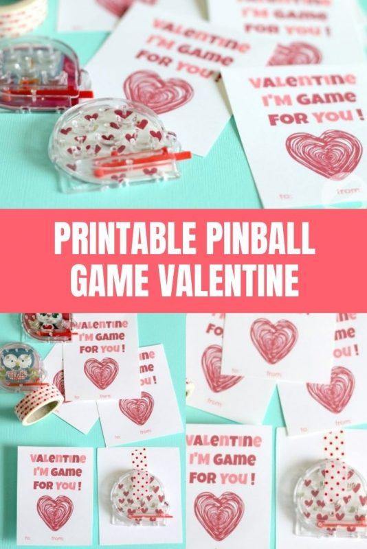 pinball game valentine printable