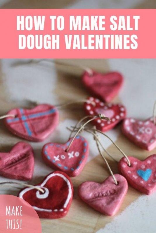 salt dough valentines