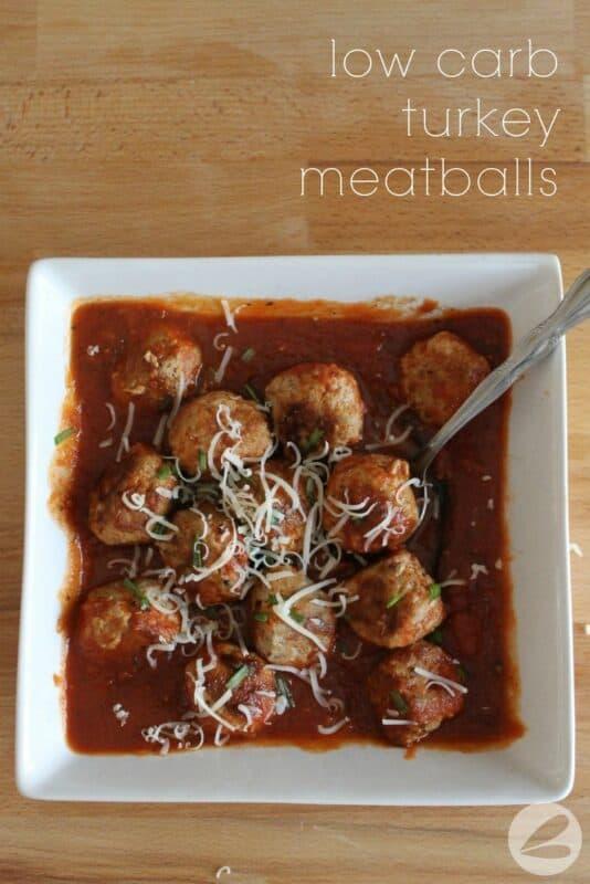 Low Carb Turkey Meatballs x