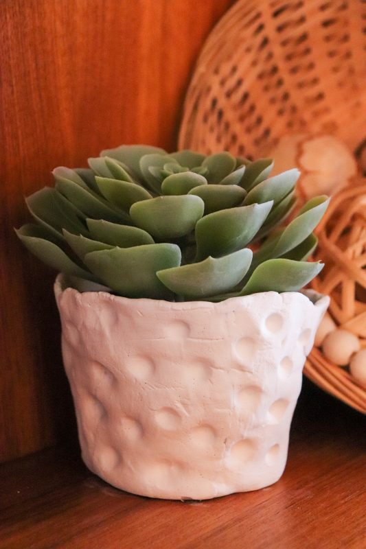 how to make a clay plant pot
